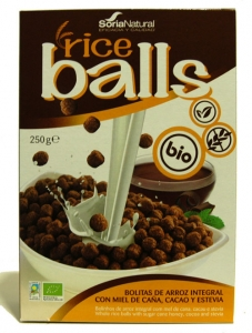 RICE BALLS DE ARROZ C/ CHOCOLATE BIO 250G SORIA